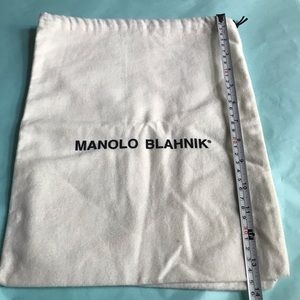 "Manolo Blahnik Felt Drawstring Dust Bag 11x14"""